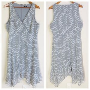 MSK Gray and White Spotted Tank Dress